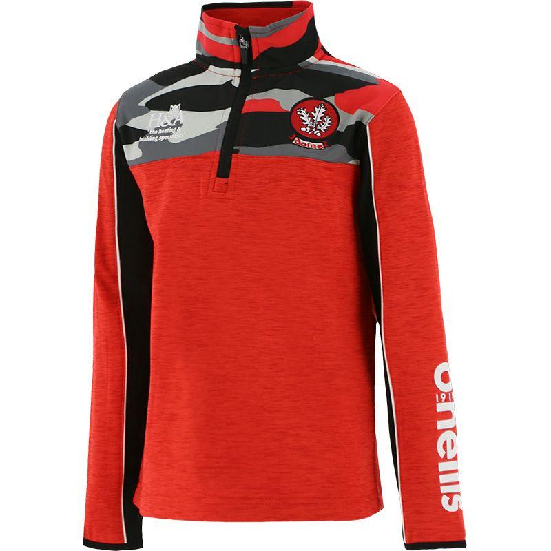 Derry GAA Kids' Bobby Brushed Half Zip Top Red / Black / Multi
