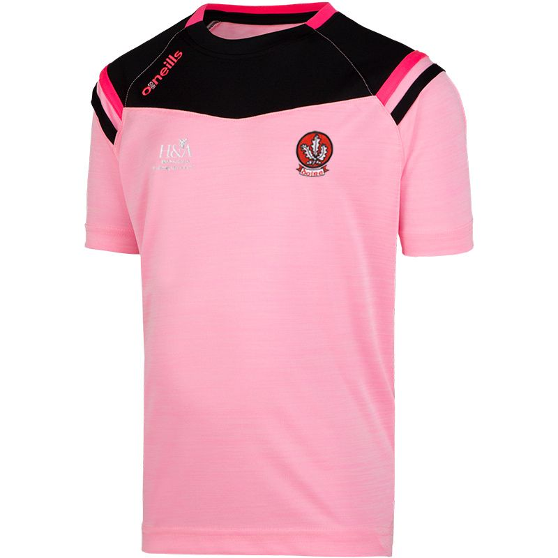 Derry GAA 2S Colorado T-Shirt (Kids) (Mel Tonal Cotton Candy/Black/Knockout Pink)