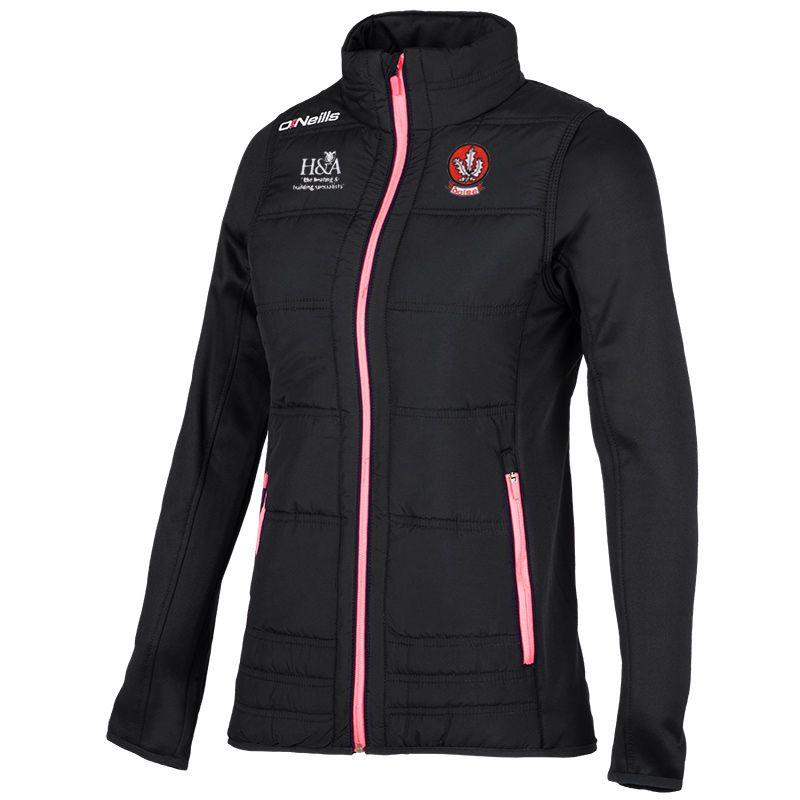 Derry GAA Evie Padded Jacket (Black/Pink) (Kids)