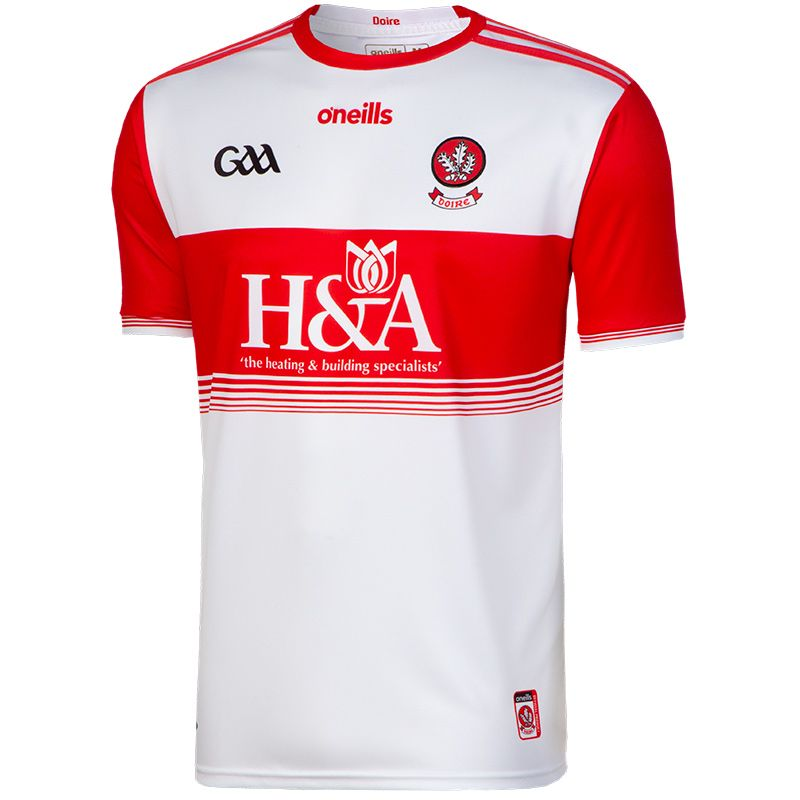 Derry GAA Player Fit Home 2-Stripe Jersey
