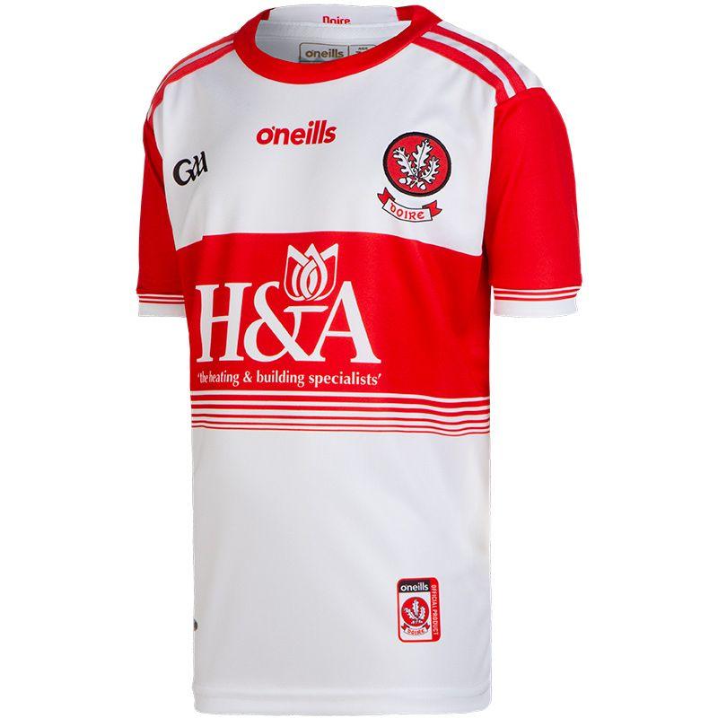 Derry GAA Kids' Home 2-Stripe Jersey