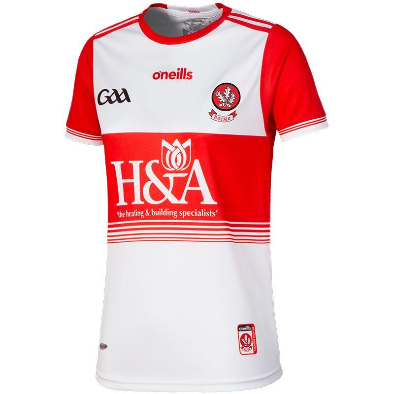 Derry GAA Womens Fit 2-stripe Jersey