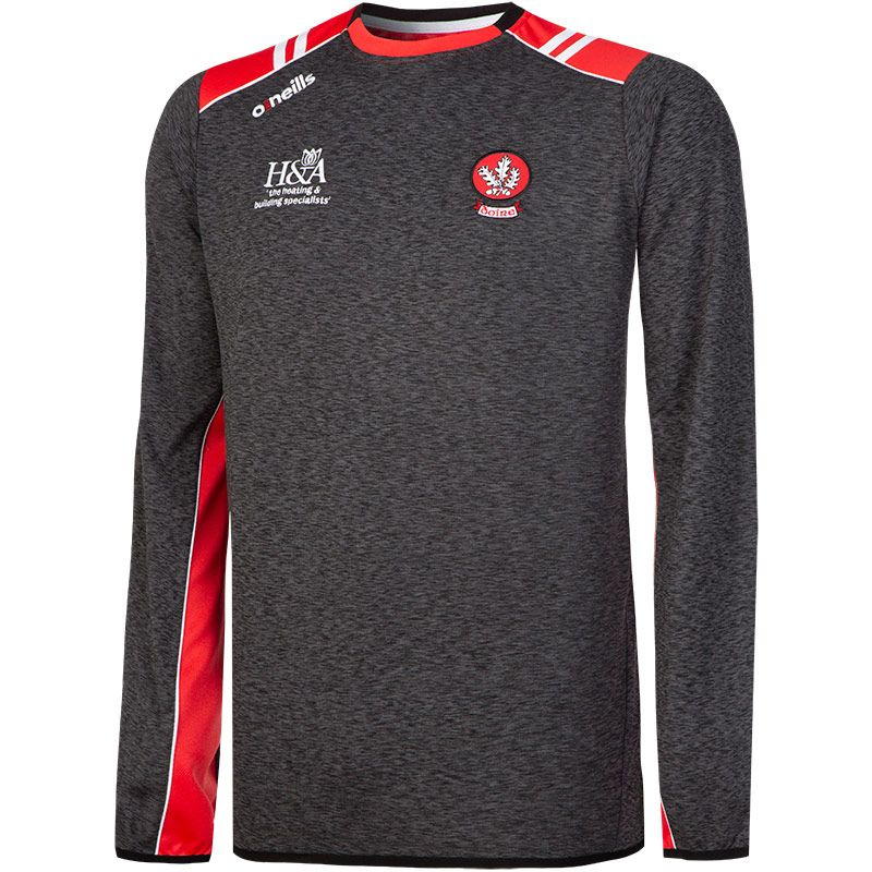 Derry GAA Mens' Manor Sweatshirt Black / Red / White