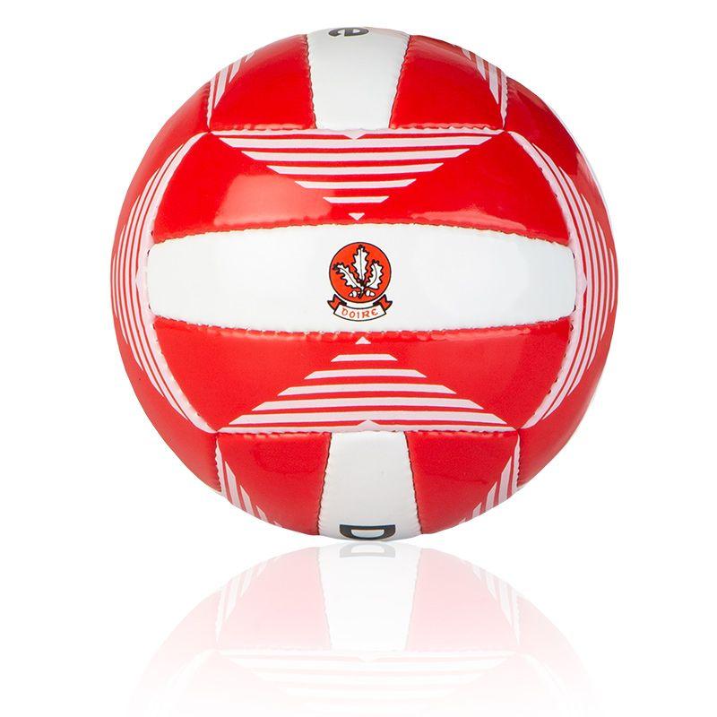 Derry GAA All Ireland Midi Gaelic Football Red / White