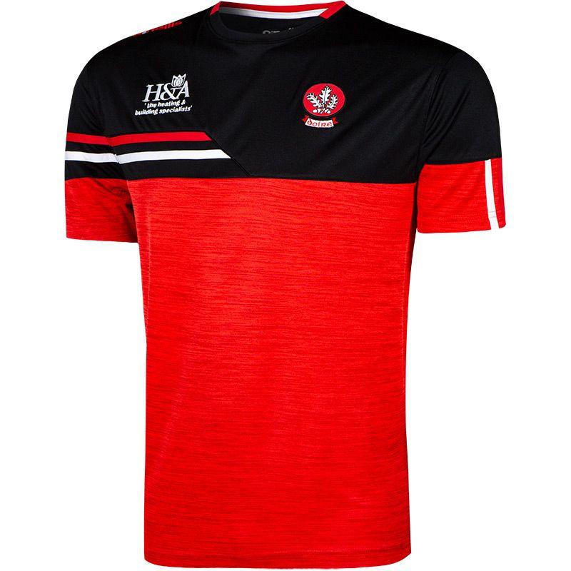 Derry GAA Men's Nevis T-Shirt Red / Black / Red
