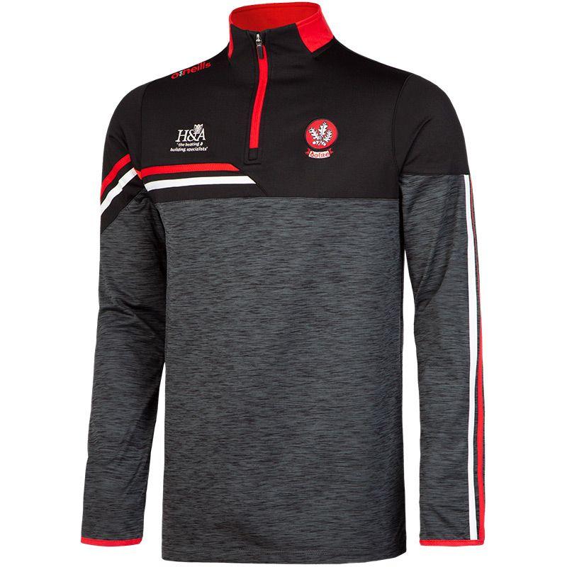 Derry GAA Men's Nevis Brushed Midlayer Half Zip Top Black / Red