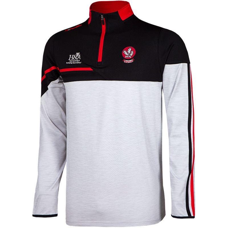 Derry GAA Men's Nevis Brushed Midlayer Half Zip Top White / Black / Red