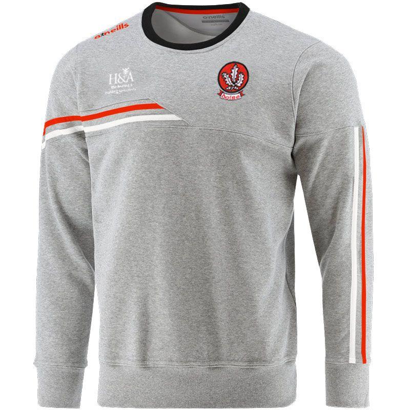 Derry GAA Men's Nevis Crew Neck Sweatshirt Grey / Red / Dark Grey