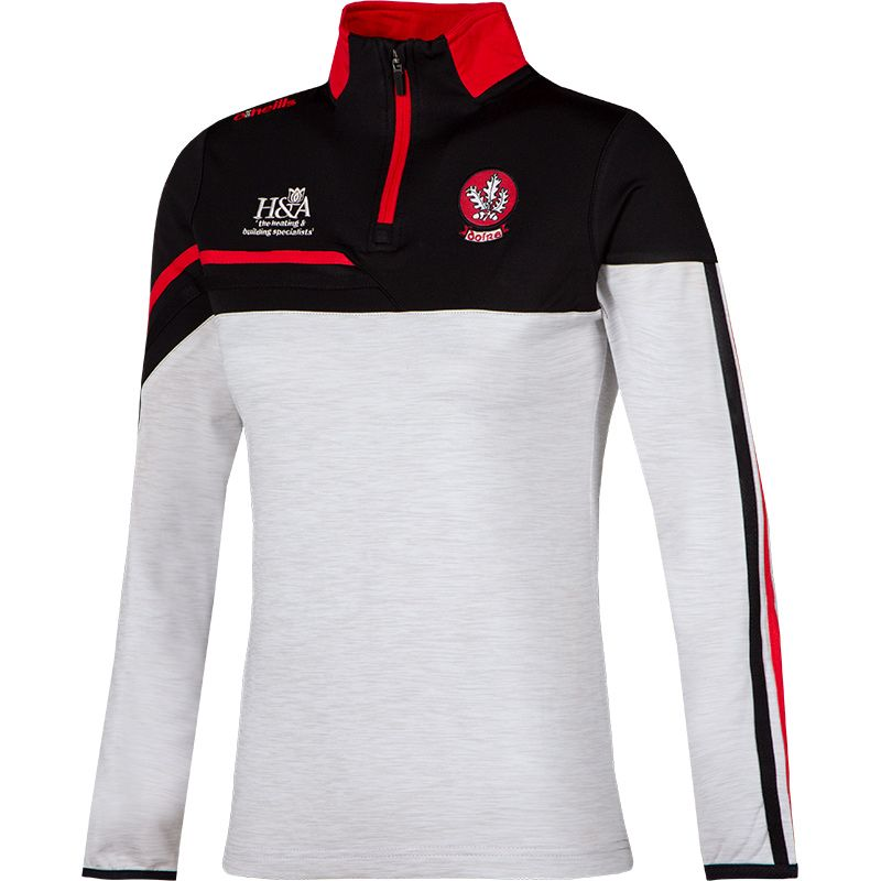 Derry GAA Women's Nevis  Brushed Midlayer Half Zip Top White / Black / Red