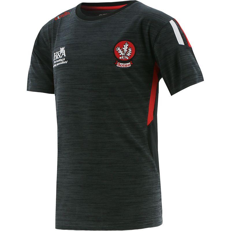 Derry GAA Kids' Raven T-Shirt Black / Red / White