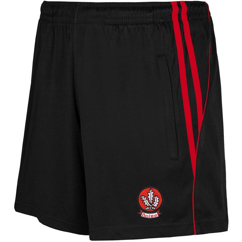 Derry GAA Solar 2S Poly Shorts (Black/Red) (Kids)