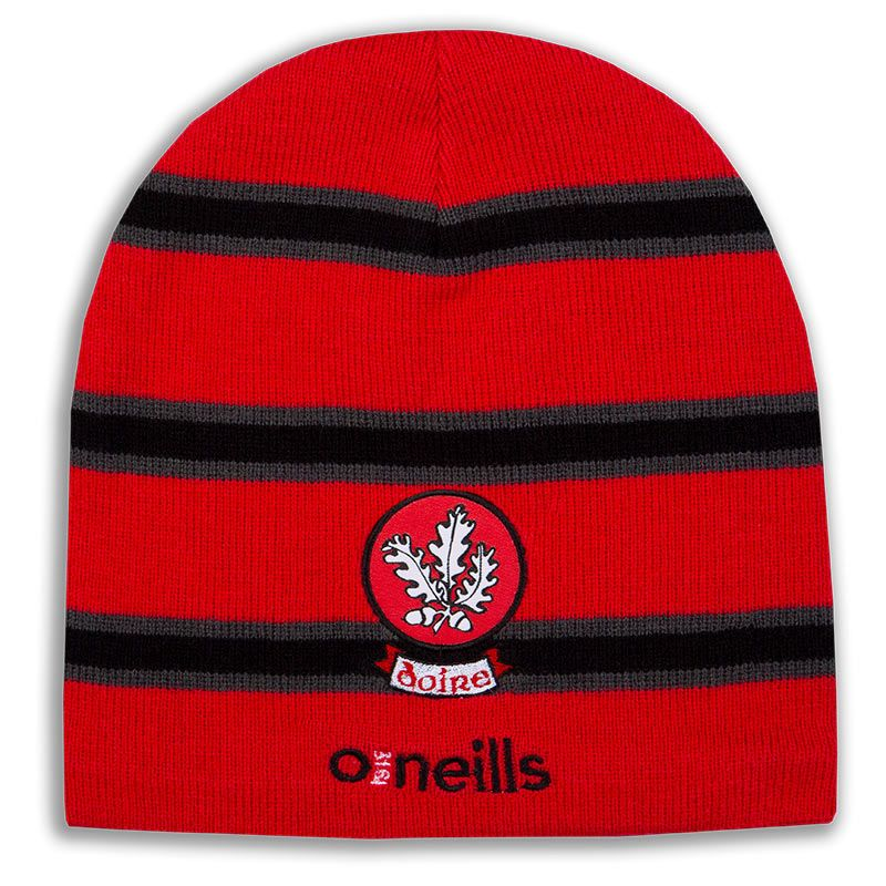 Derry GAA Solar Beanie Hat (Red/Gunmetal/Black) (Kids)