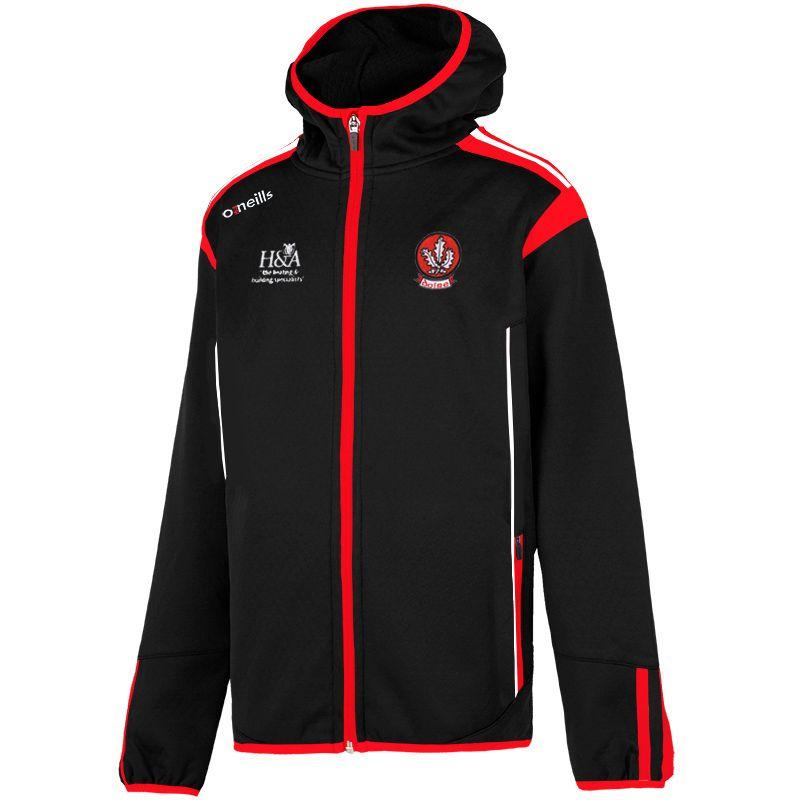 Derry GAA Solar 2S Full Zip Embossed Hooded Top (Black/Red/White) (Kids)