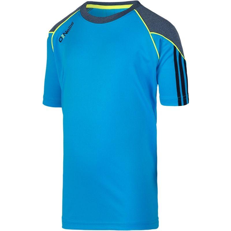 Dillon 3S Boys T-Shirt (Swedish Blue/Marl Marine/Flo Yellow)