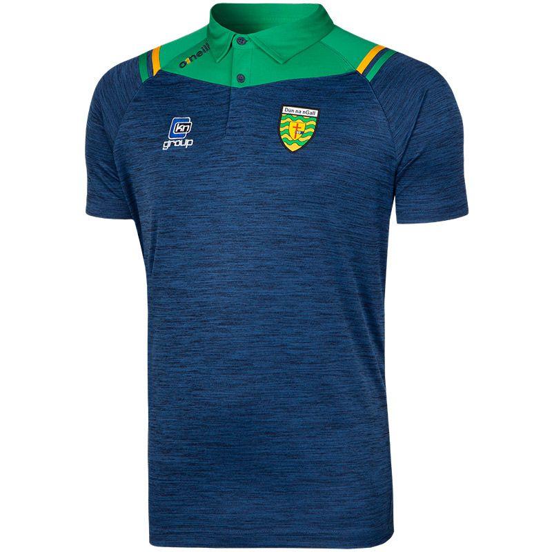 Donegal GAA Colorado 2S Polo Shirt (Melange Tonal Marine/Emerald/Amber)