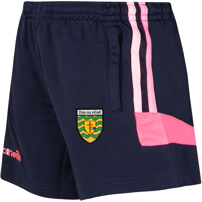 Donegal GAA Colorado 2S Shorts (Kids) (Marine/Cotton Candy/Knockout Pink)