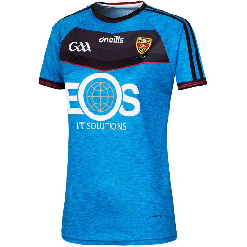 Down GAA Womens Fit 2-Stripe Cyan Jersey