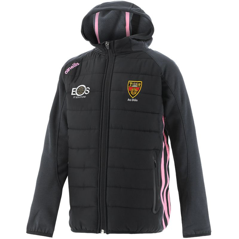 Down GAA Kids' Portland Light Weight Padded Jacket Black / Pink