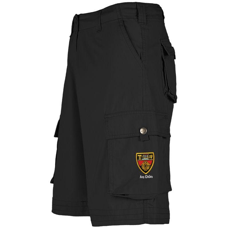 Down GAA Toulon Cargo Shorts (Black)