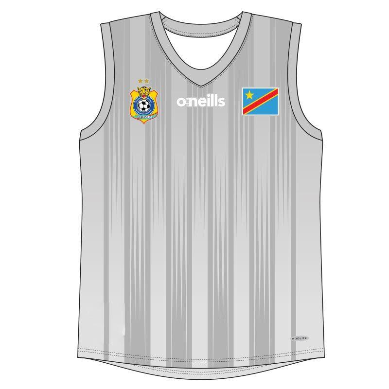 Democratic Republic of Congo Soccer Vest (Grey)
