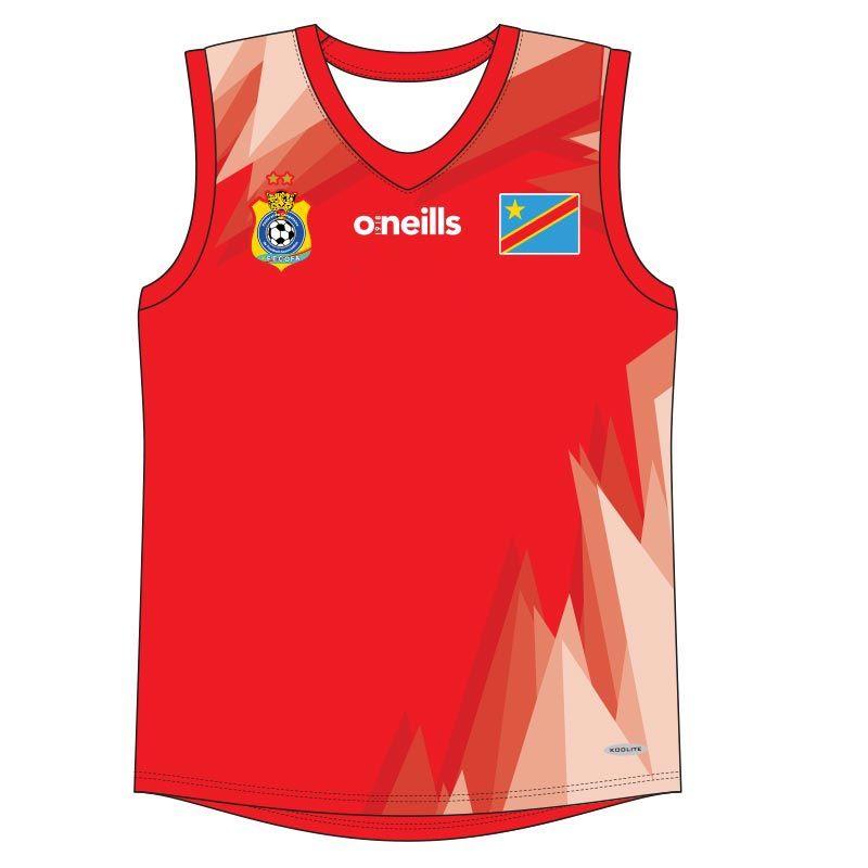 Democratic Republic of Congo Kids' Soccer Vest (Red)