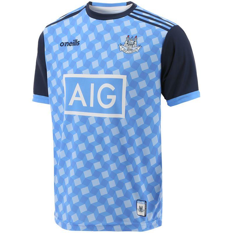 Dublin GAA Kids' Short Sleeve Training Top Sky / Swedish Blue