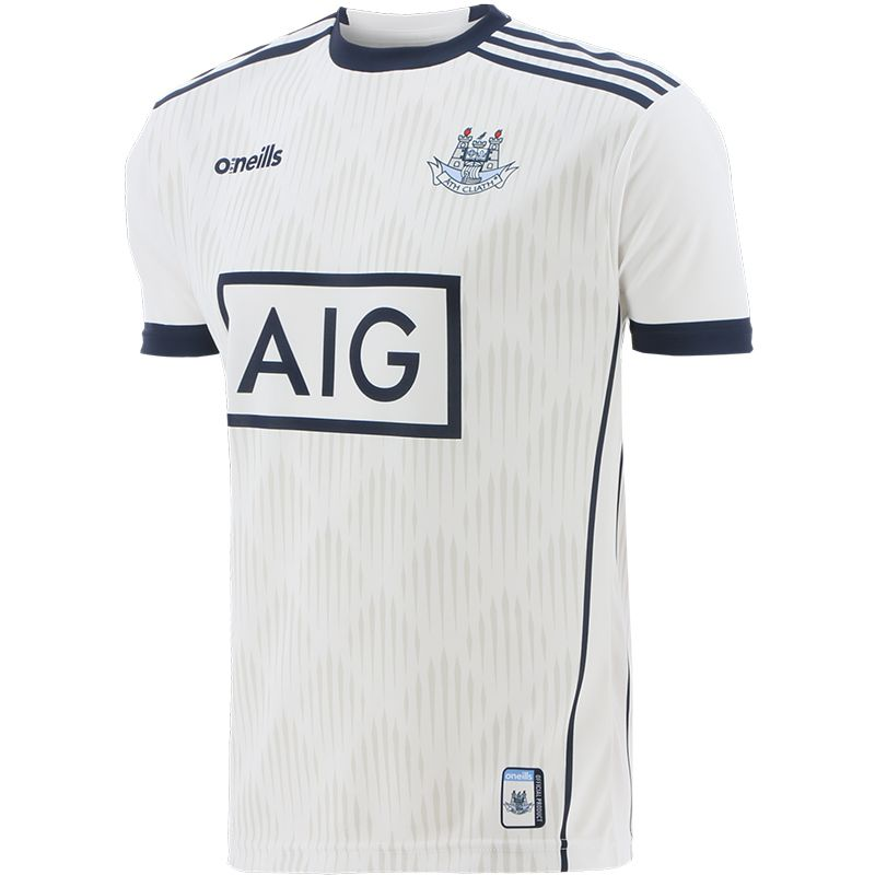 Dublin GAA Player Fit Short Sleeve Training Top White / Marine