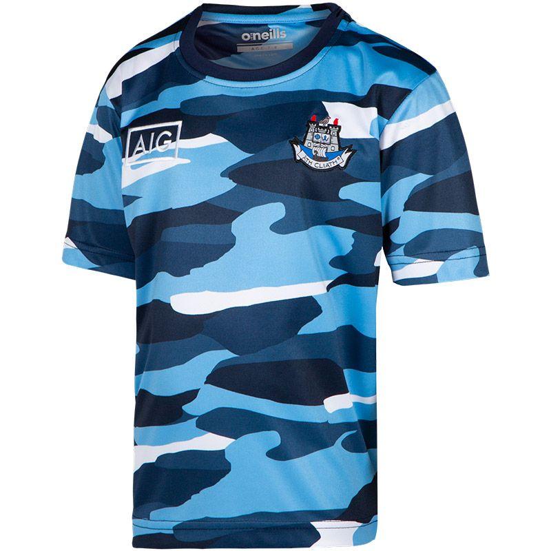 Dublin GAA Kids' Bobby Sublimated T-Shirt Marine / Sky Blue / White