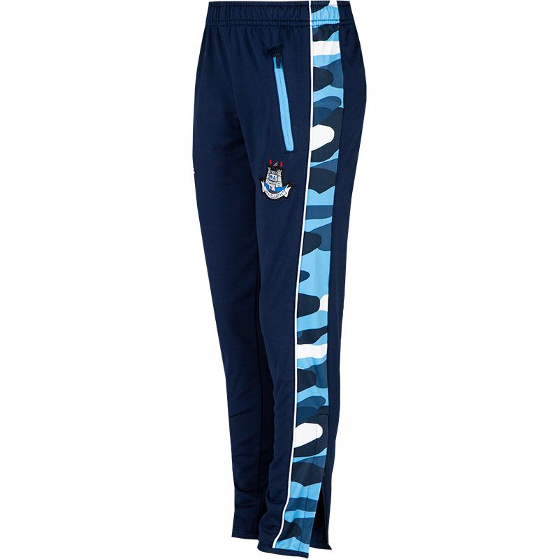 Dublin GAA Kids' Bobby Brushed Skinny Pants Marine / Sky Blue / White