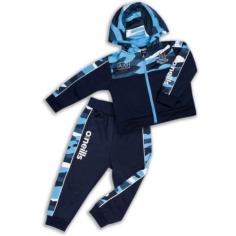 Dublin GAA Kids' Bobby Brushed Infant Suit Marine / Sky Blue / White