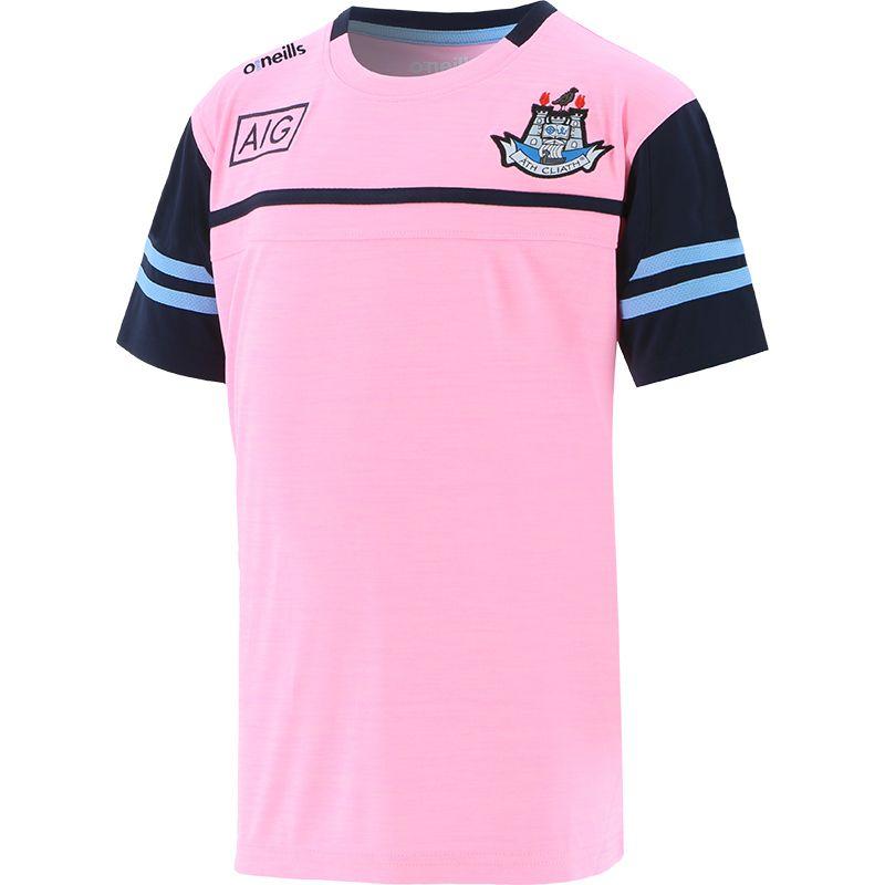Dublin GAA Kids' Bolton T-Shirt Pink / Marine / Sky