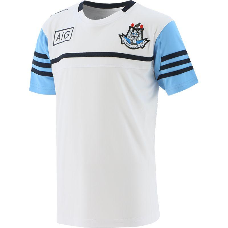 Dublin GAA Kids' Bolton T-Shirt White / Sky / Marine