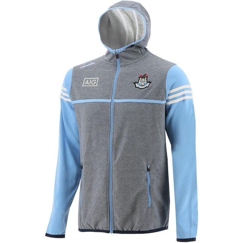 Dublin GAA Men's Bolton Fleece Full Zip Hoodie Marine / Sky / White
