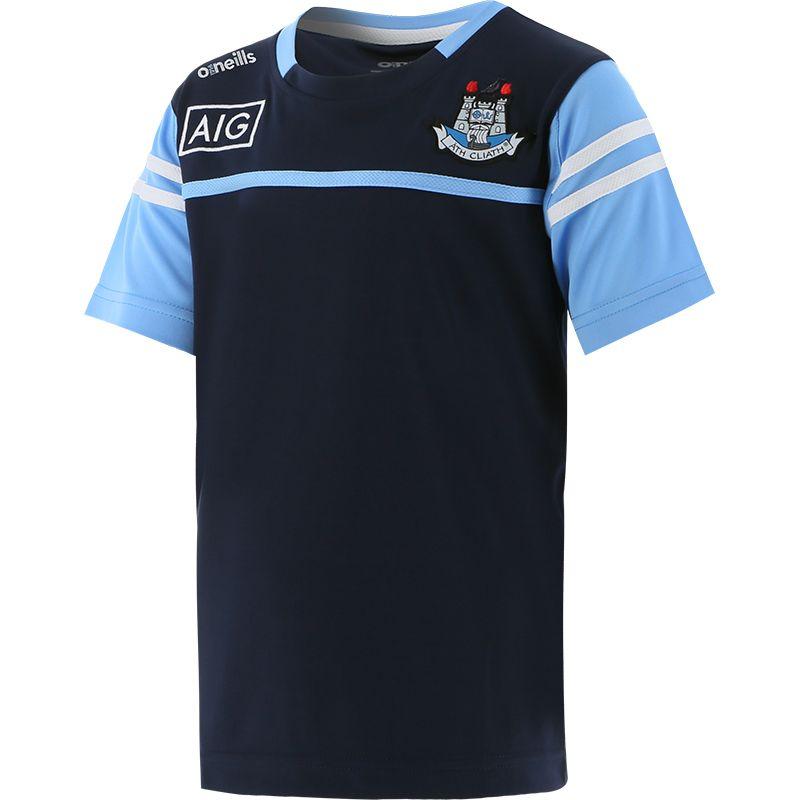 Dublin GAA Kids' Bolton 2 Stripe T-Shirt Marine / Sky / White