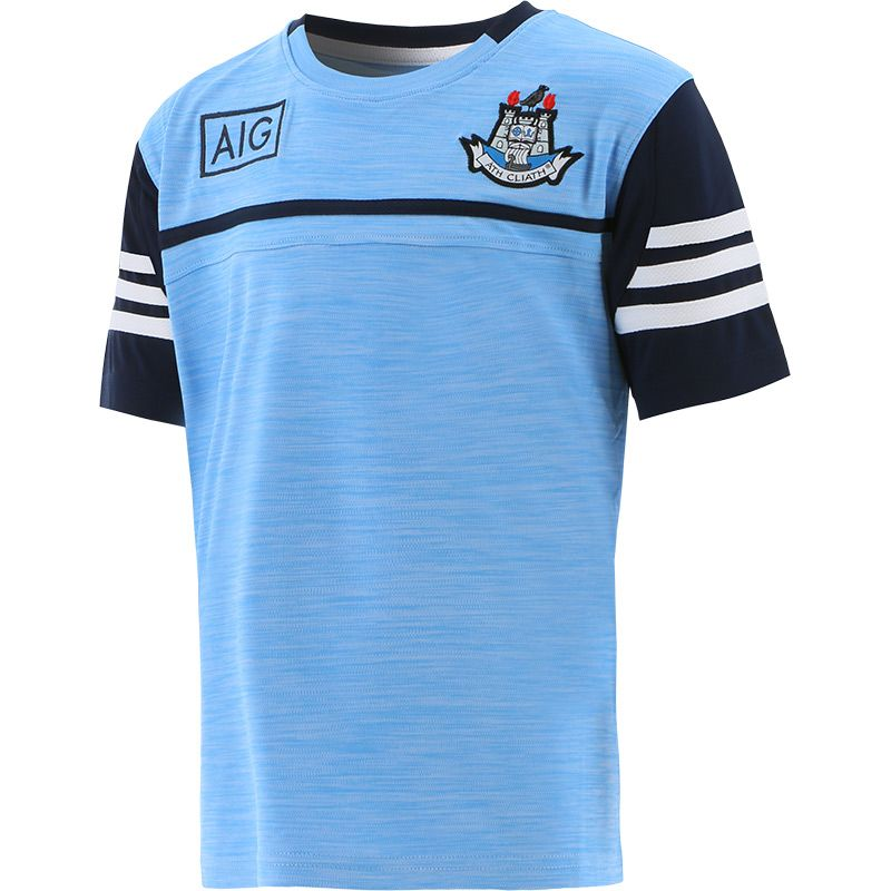 Dublin GAA Kids' Bolton T-Shirt Sky / Marine / White