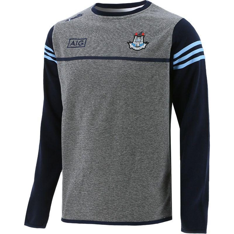 Dublin GAA Kids' Bolton Fleece Sweatshirt Grey / Marine / Sky