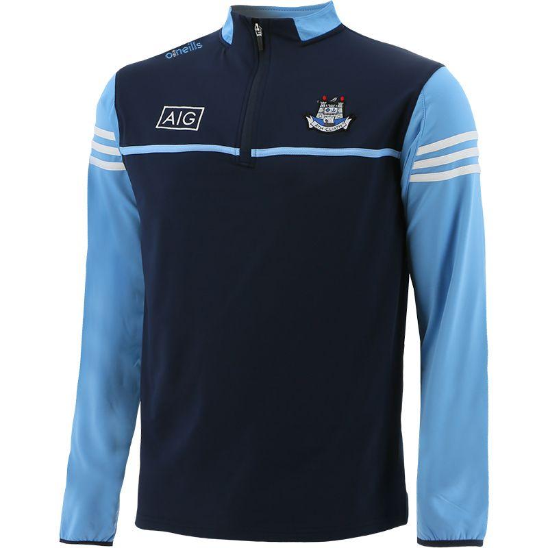 Dublin GAA Men's Bolton Brushed Half Zip Top Marine / Sky / White
