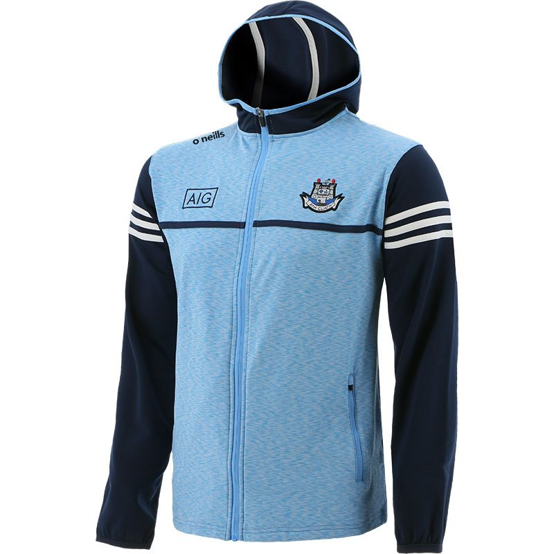 Dublin GAA Men's Bolton Brushed Full Zip Hoodie Sky / Marine / White