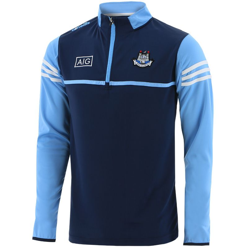 Dublin GAA Men's Bolton Half Zip Midlayer Top Marine / Sky / White