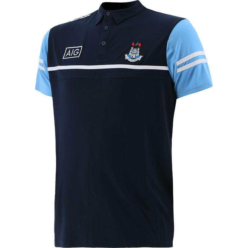 Dublin GAA Men's Bolton Polo Shirt Marine / Sky / White