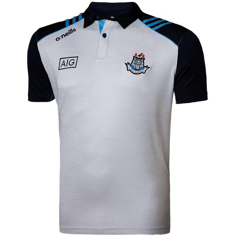 Dublin GAA Men's Dawson Polo Shirt 3S White / Marine / Sky