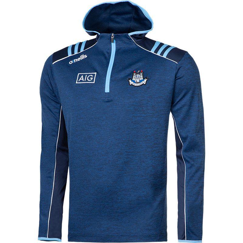 Dublin GAA Men's Dawson Half Zip Hoodie 3S Marine / Sky / White