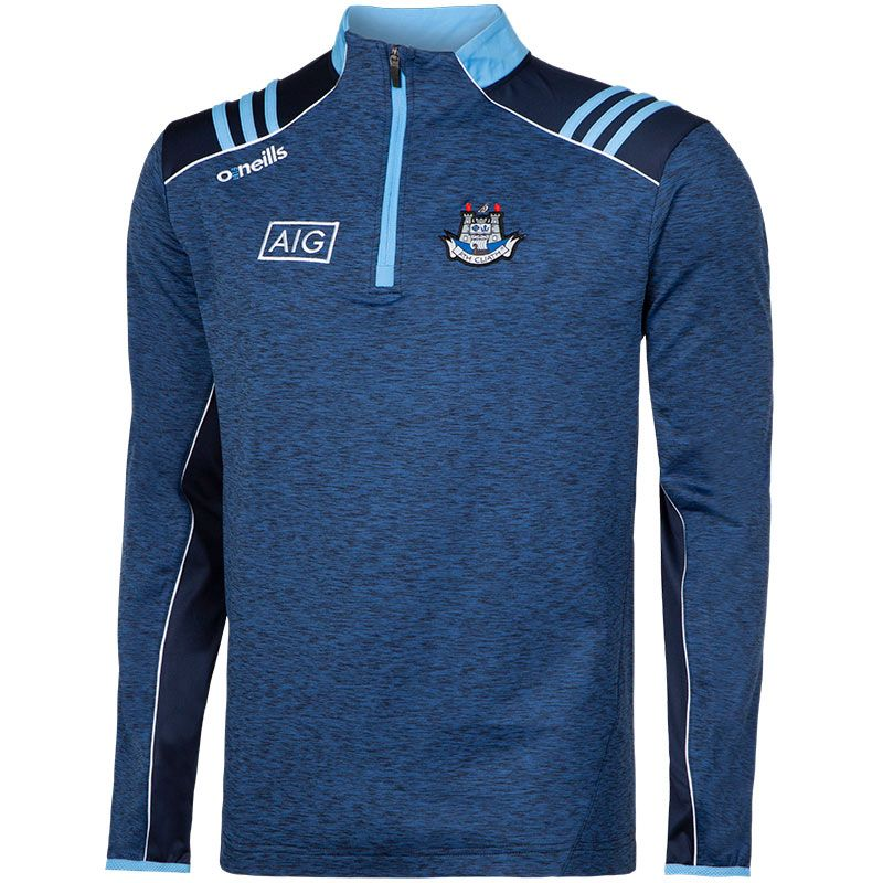 Dublin GAA Men's Dawson Brushed Midlayer Half Zip Top 3S Marine / Sky / White