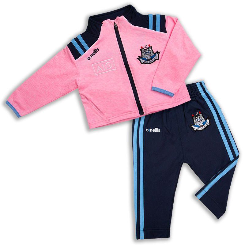 Dublin GAA Kids' Dawson Brushed Infant Suit 2S Pink / Marine / Sky / White