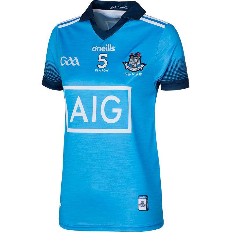Dublin GAA Womens Fit 5 In A Row 2-Stripe Jersey