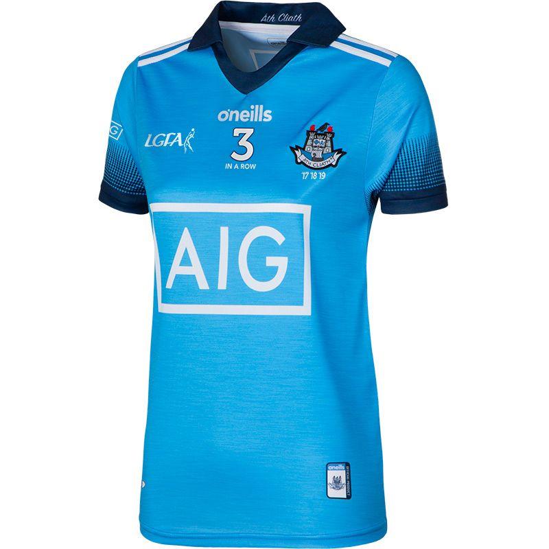 Dublin LGFA 3 in a Row 2-Stripe Jersey