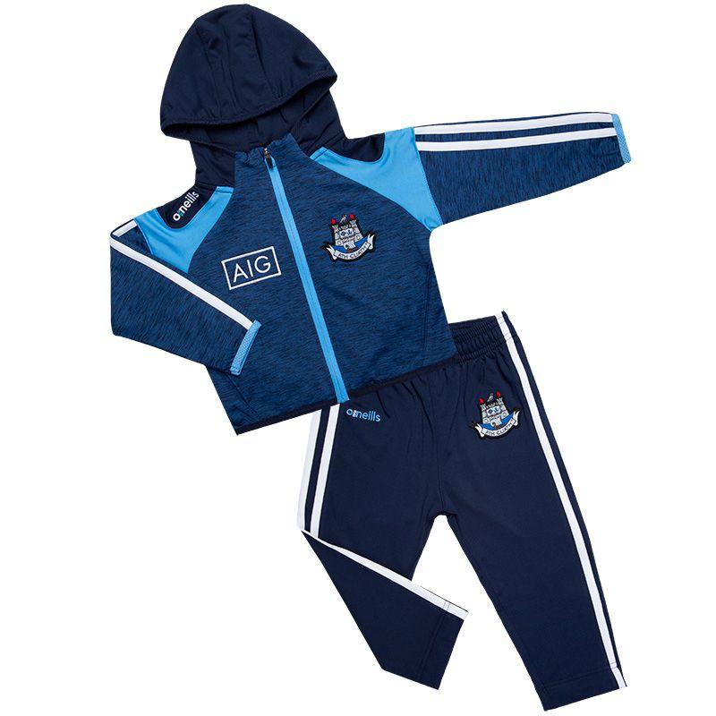 Dublin GAA Malone 3S Brushed Infant Fleece Suit (Mel Tonal Marine/Sky/White)