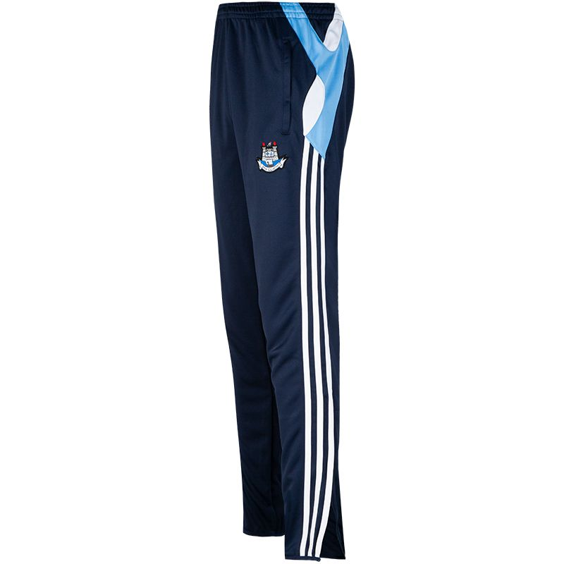 Dublin GAA Men's Malone 3 Stripe Brushed Squad Skinny Pants Marine / Sky / White