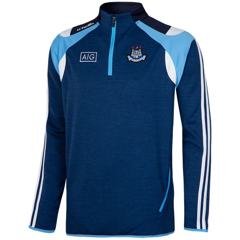 Dublin GAA Malone 3S Half Zip Squad Top (Mel Tonal Marine/Sky Blue/White)