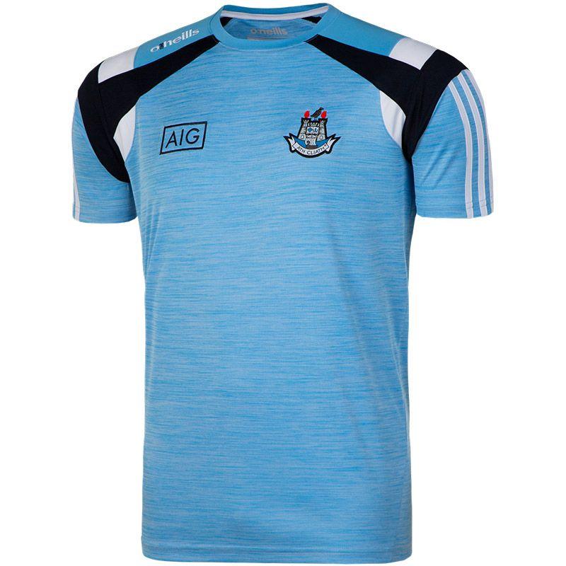 Dublin GAA Malone 3S T-Shirt  (Mel Tonal Sky/Marine/White) (Kids)
